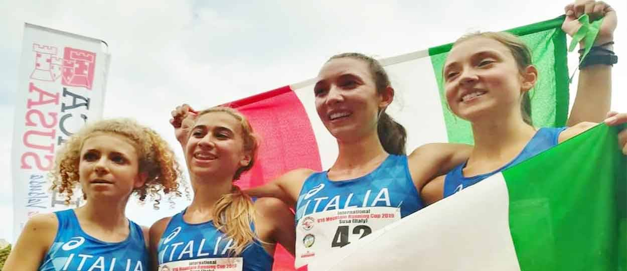 U18 International Mountain Running Cup  Italien holt Gold mit Lisa Kerschbaumer